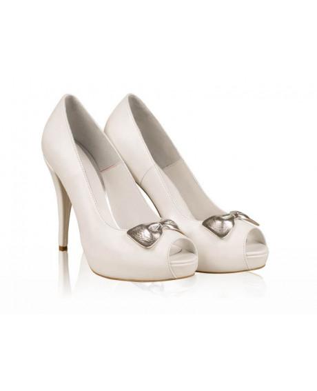 Pantofi mireasa - AF1 Silver-sau Orice Culoare