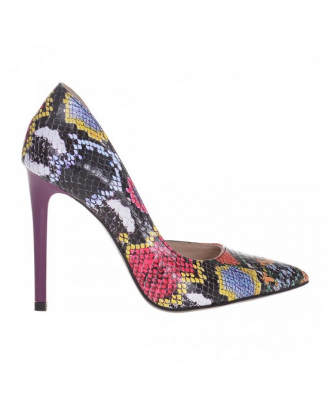Pantofi Yvonne din piele naturala imprimata S501
