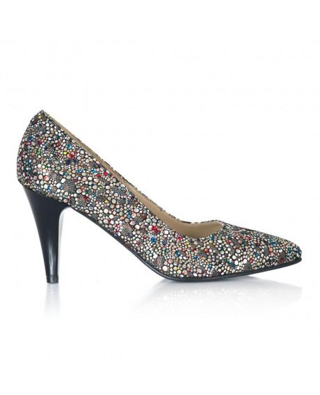 Pantofi multicolor Mini Stiletto V09