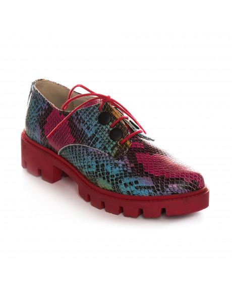 Pantofi multicolori tip Oxford, Lottie V110  - sau Orice Culoare