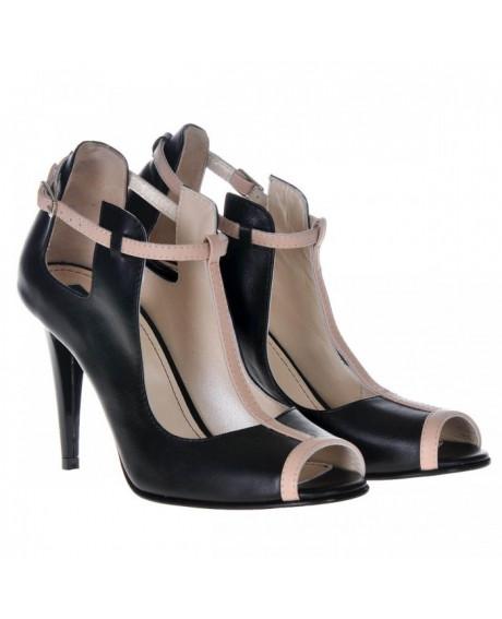 Pantofi negri din piele Zora S55 - sau Orice Culoare