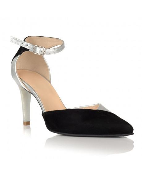 Pantofi negri Fashion din piele naturala C 15