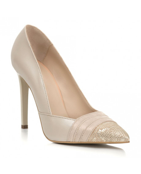 Pantofi ivory Adele din piele naturala S11