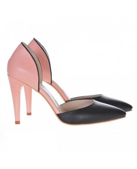Pantofi nude din piele naturala Angel S100 - sau Orice Culoare