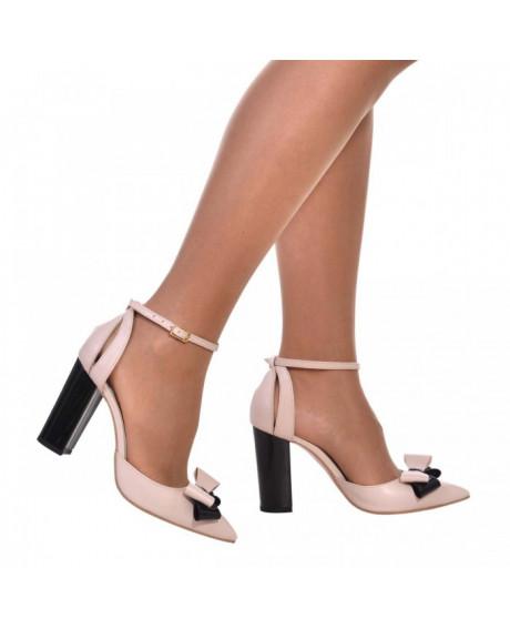 Pantofi nude din piele naturala Carol S11 - sau Orice Culoare