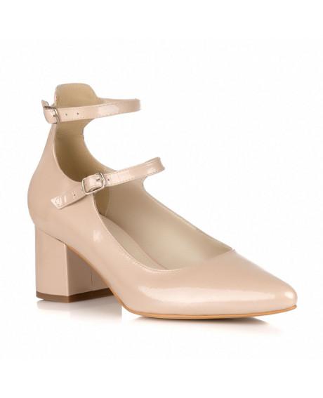 Pantofi nude din piele naturala Gladiator L 100