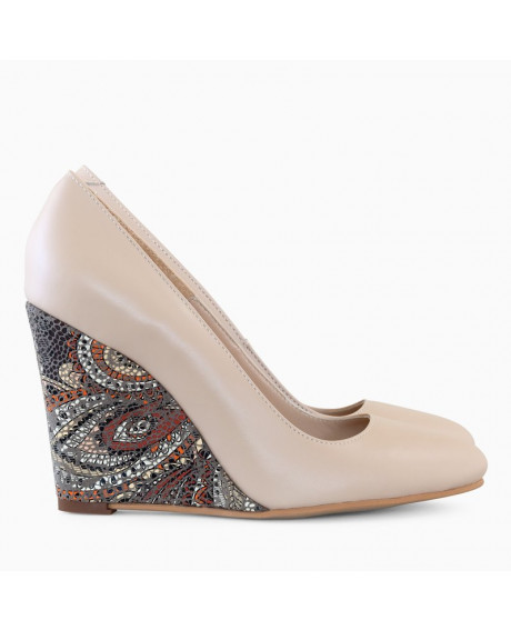 Pantofi cu toc ortopedic Naty Cappuccino D70 - sau Orice Culoare