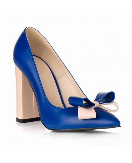 Pantofi online Stiletto Chic albastru S46