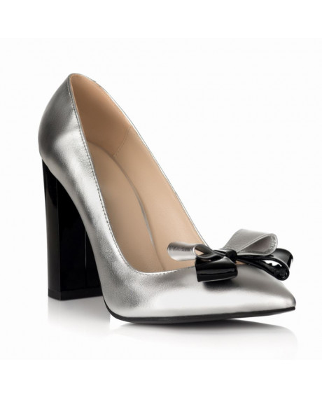 Pantofi online Stiletto Chic argintiu S23