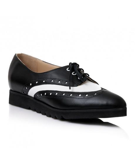 Pantofi Oxford negru din piele naturala S107 - sau Orice Culoare