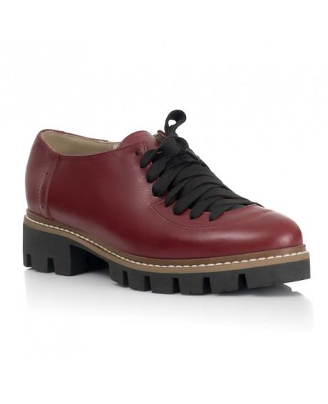Pantofi piele Oxford Mady Bordo V09 - sau Orice Culoare