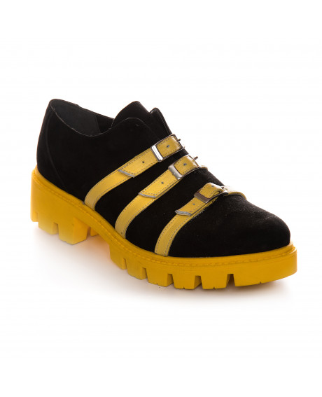Pantofi Oxford piele naturala Olivia V33 - sau Orice Culoare