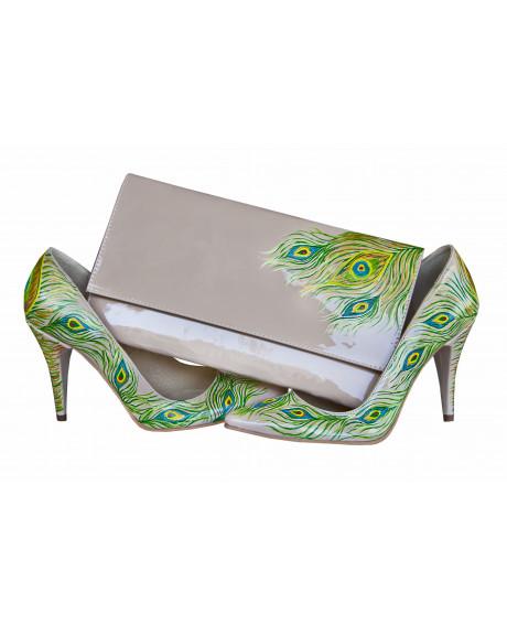 Pantofi pictati manual Green Stilettos AF 3-sau Orice Culoare