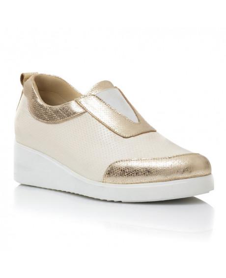 Pantofi piele naturala Rosay aurii V3 - sau Orice Culoare