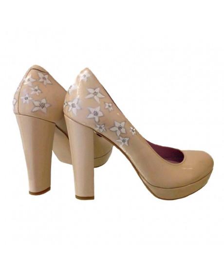 Pantofi piele pictati manual Stars C45 - sau Orice Culoare