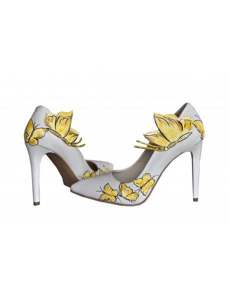 Pantofi pictati manual Yellow Butterfly AF 2-sau Orice Culoare