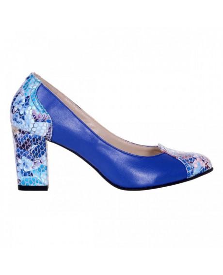 Pantofi piele cu imprimeu Sara S33 - sau Orice Culoare