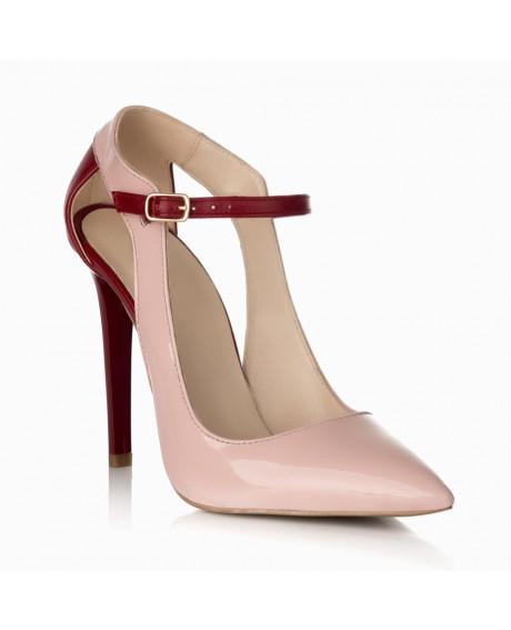 Pantofi piele Arina nude S09