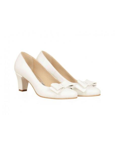 Pantofi mireasa Elisa alb N06 - sau Orice Culoare