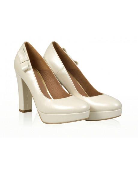 Pantofi piele Ellen inchis N507 - sau Orice Culoare