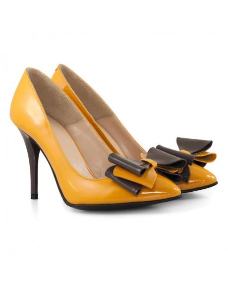 Pantofi piele Irena Asimetric D05