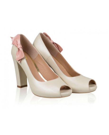 Pantofi piele Luisa decupat N101 - sau Orice Culoare