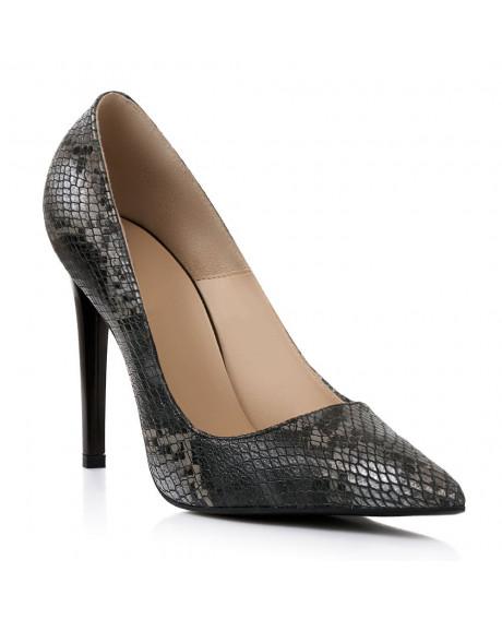 Pantofi piele Stiletto Black Snake C100 - sau Orice Culoare