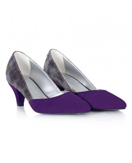 Pantofi piele mov Muse L45