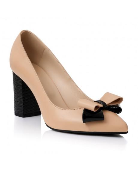 Pantofi piele nude Alesa S71 - sau Orice Culoare