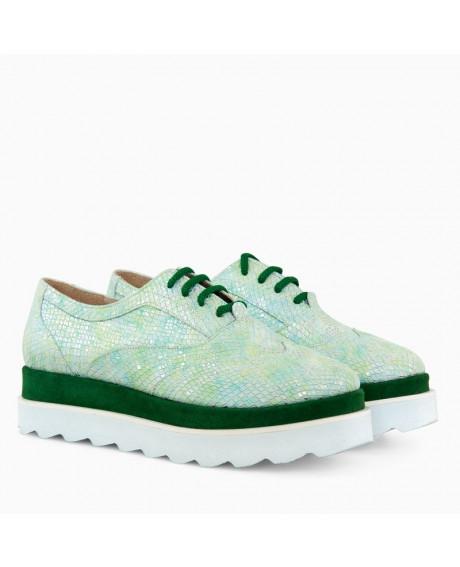 Pantofi piele Oxford Verde Star D17 - sau Orice Culoare