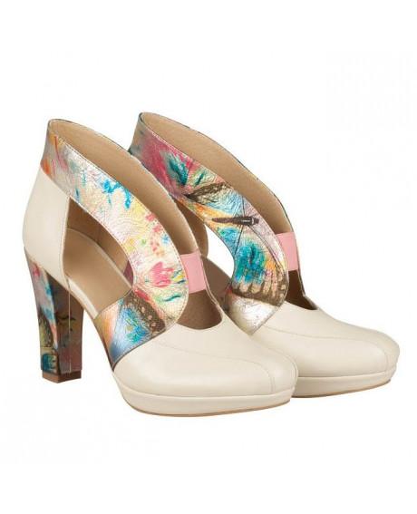Pantofi Penelope din piele naturala bej N3 - sau Orice Culoare