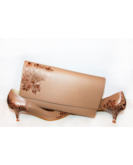 Pantofi pictati manual Brown Inspiration C101 - sau Orice Culoare