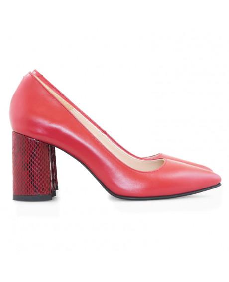 Pantofi piele rosii Alma D22 - sau Orice Culoare