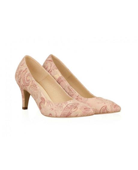 Pantofi piele Stiletto Fiorella - N100