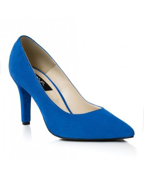Pantofi piele Stiletto Mara albastru L50 - sau Orice Culoare