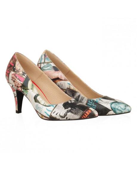 Pantofi piele Stiletto Vogue N23