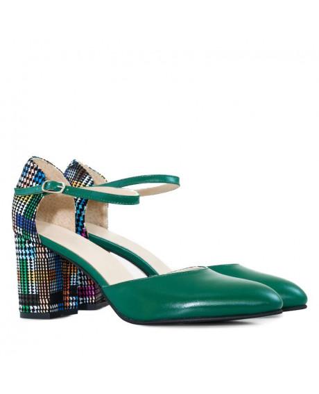 Pantofi piele Sweet verzi D3 - sau Orice Culoare