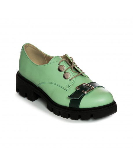 Pantofi piele tip Oxford Green World V15 - sau Orice Culoare
