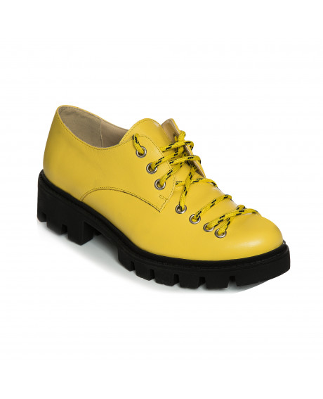 Pantofi piele tip Oxford Yellow Sicily V23 - sau Orice Culoare