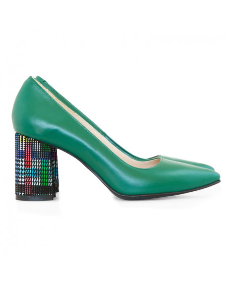 Pantofi piele verzi Alma D17 - sau Orice Culoare