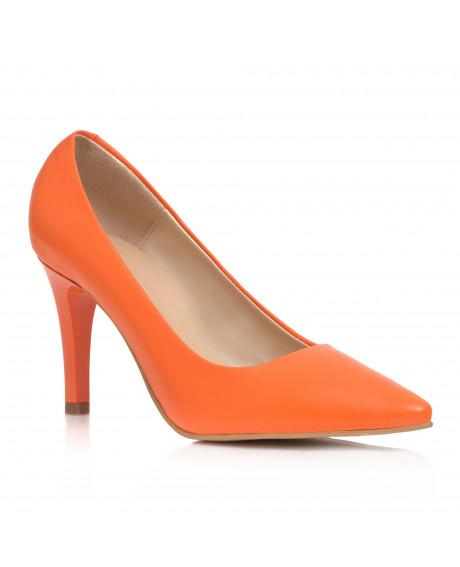 Pantofi portocalii Stiletto Aida C09 - sau Orice Culoare