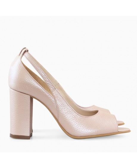 Pantofi rose sidef din piele Gily D52 - sau Orice Culoare