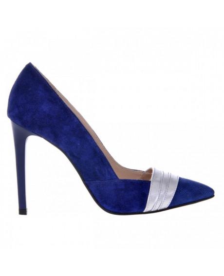 Pantofi Stiletto albastru Levina S105 - sau Orice Culoare