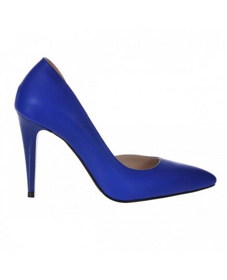 Pantofi Stiletto albastru, Classy decupat S91 - sau Orice Culoare