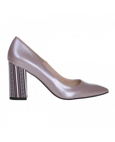 Pantofi Stiletto din piele naturala Opal S94 - sau Orice Culoare