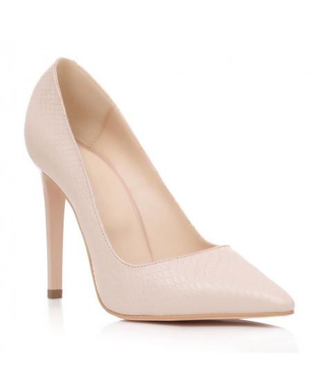 Pantofi piele naturala Elsa nude S43 - sau Orice Culoare