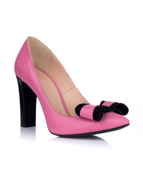 Pantofi Stiletto GLAM cu funda roz S3
