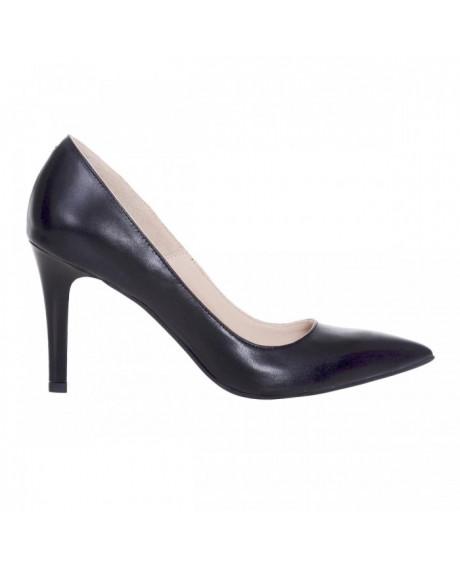 Pantofi Stiletto negri din piele naturala Nadine S120 - sau Orice Culoare