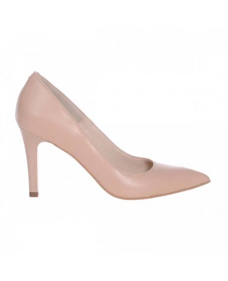 Pantofi Stiletto nude din piele naturala Nadine S115 - sau Orice Culoare