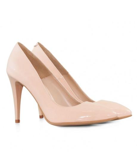 Pantofi piele Stiletto nude Otilia D70